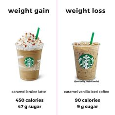 Hands up if you love Starbucks Swaps! For see more of fitness life images visit us on our website ! Healthy Starbucks, Starbucks Drinks, Coffee Drinks, Wine Drinks, Beverages, Healthy Food Swaps, Healthy Recipes, Healthy Eating, Whole30 Recipes