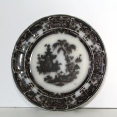 Antique Mulberry Flow Plate marked Corean by Hallingtons on Etsy