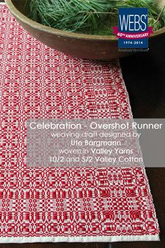 Celebration Overshot Runner #weaving