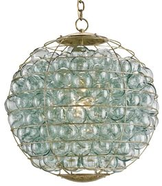 Pastiche Orb Chandelier Lighting | Currey and Company. Pin it to win it.