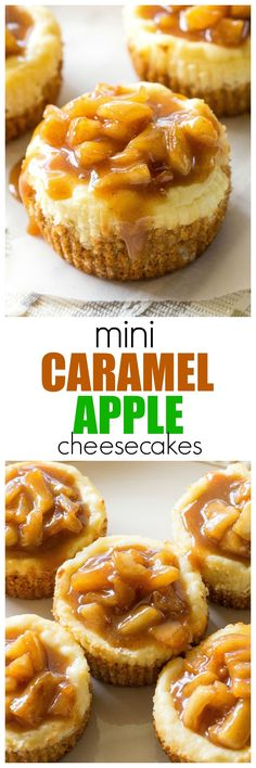 Caramel Apple Cheesecakes Mini Caramel Apple Cheesecakes - so easy and individually portioned! the-girl-who-ate-Mini Caramel Apple Cheesecakes - so easy and individually portioned! the-girl-who-ate- Mini Desserts, Desserts Nutella, Easy Desserts, Delicious Desserts, Yummy Food, Christmas Desserts, Autumn Desserts, Mini Dessert Recipes, Mini Cheesecake Recipes