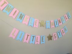 Twinkle Twinkle Little Star Gender Reveal Banner / Boy or Girl / Blue or Pink / Baby Sprinkle / Baby Shower / Sip and See