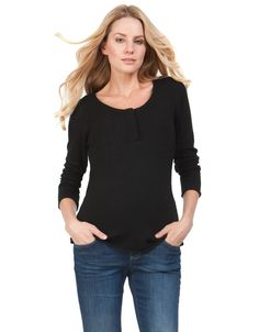 Black Alpaca Blend Maternity   Nursing Sweater  eb484cf47