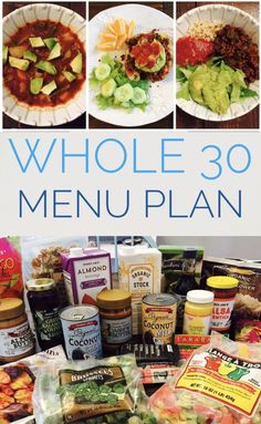 Whole 30 Meal Plan – A week of ideas for Whole 30 Meals for breakfast, lunch, and dinner! Lots of product ideas and tips. Whole 30 Meal Plan – A week of ideas for Whole 30 Meals for breakfast, lunch, and dinner! Lots of product ideas and tips. Whole 30 Menu, Whole 30 Meal Plan, Whole 30 Diet, Whole 30 Rules, Whole 30 Snacks, Whole 30 Lunch, Whole 30 Breakfast, Breakfast Club, Breakfast Ideas