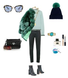 """Paris day 2"" by diamara-dostanova on Polyvore featuring мода, Theyskens' Theory, Yves Salomon, RED Valentino, Michael Kors, ESCADA, Maison Margiela, Miu Miu, Valentino и Gucci"