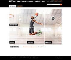 Nike BNX Website on Web Design Served