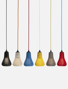 Bright colours in futuristic 3D printed shades - available at plumen.com