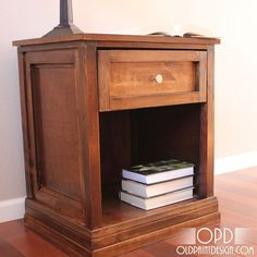 Bedside tables stained DARK!