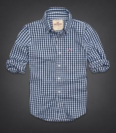 2014 Hollister by Abercrombie Men Plaids Check Shirt Button Down Size s Small | eBay