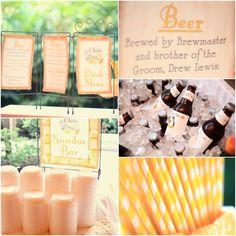 #zoonashvillewedding, diy, crafty, yellow and grey, #destinationnashvillewedding straws