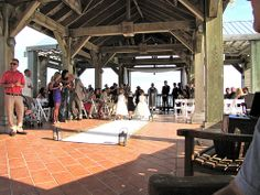 Adorable! --Destination Wedding at the Reach Resort in Key West with The Best Wedding DJ Ever! http://mbeventdjs.com