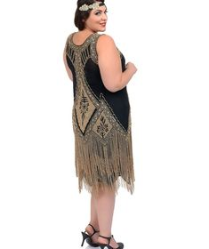 Flapper dress plus size cheap - http://pluslook.eu/dresses/flapper ...