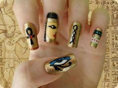 Egyptian themed nails