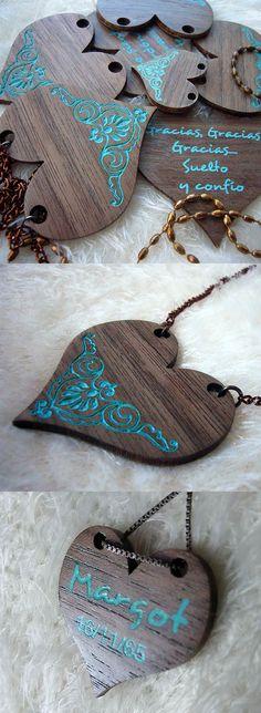 #corazones#madera nogal