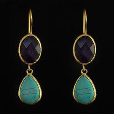 Butterfly Earrings Onyx by Tiklari