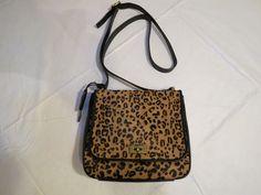 Fossil ZB5427989 Memoir Small Flap Cheetah black twist lock Leather purse NWT^^ #Fossil #twistlockCrossBody