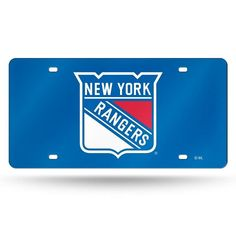 NHL New York Rangers Laser License Plate Tag - Blue 53bb5ab67