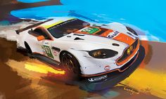 Aston Martin painting by candyrod.deviantart.com on @DeviantArt