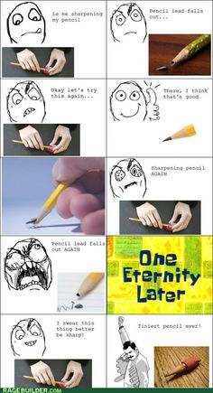 In the time before mechanical pencils