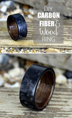 How to make a cool little carbon fiber ring with a wood interior.