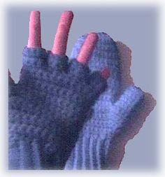 Free Crochet Patterns Flip Top Mittens : crochet gloves on Pinterest Gloves, Crochet Mittens and ...