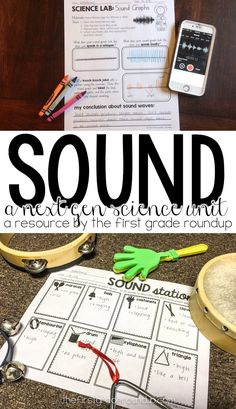 Sneak peak of this Next Gen Science aligned sound unit for first grade!