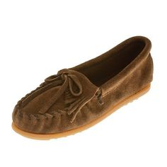 Minnetonka Moccasins 2403 - Childrens Dusty Brown Suede Kilty Moccasin - Kid's Moccasins