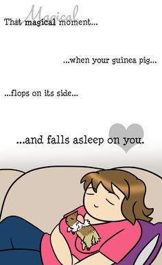 """piggieproblems: """" My favorite thing to do with my Cookie: lay on my couch, place her on me, and have both of us fall asleep"""