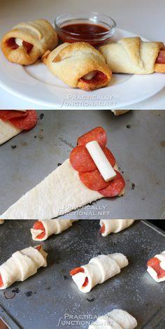 Sencillos rollitos pizza