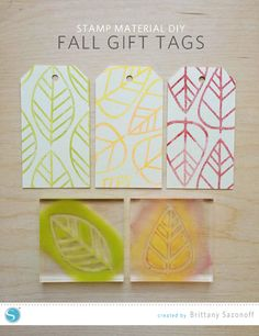 Fall Stamped Gift Tag DIY | Brittany Sazonoff