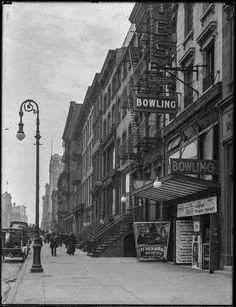 New York. Bowling Alley and Movie Theater, 248 West 14th Street between 7th and…