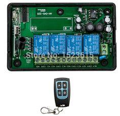 New AC85V~250V 4CH RF Wireless Remote Control System / Radio Switch remote switch receiver for Appliances Gate Garage Door #Affiliate