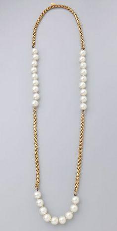 WGACA Vintage Vintage Chanel Pearl & Chain Necklace