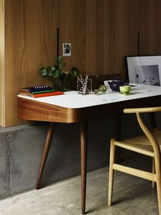 Sometimes work and home fuse together. Choose the right materials and jobs crossing into personal life can be a wholly stylish thing