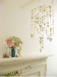 Craft #24: heart garland. #craft, #heart, #garland, #diy