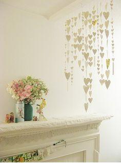 Craft #24: heart garland. #craft, #heart, #garland, #diy