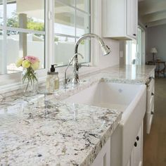 Delicieux White Springs Granite White Kitchen Cupboards, White Granite Kitchen,  Granite Kitchen Counters, Granite