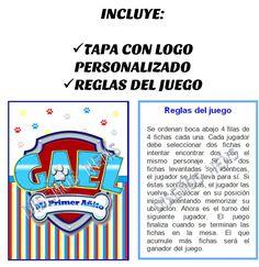 memotest imprimible paw patrol logo personalizado souvenir