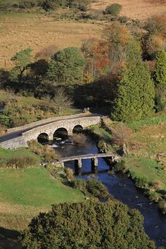 Aerial view of Two Bridges, Dartmoor National Park Devon Uk, Devon England, Devon And Cornwall, Cornwall England, Old Bridges, Dartmoor National Park, British Countryside, South Yorkshire, Kingdom Of Great Britain