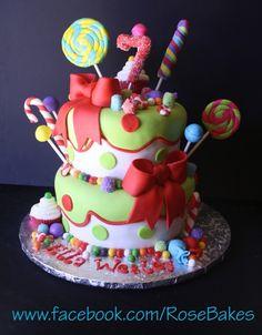 Sweet candy cake