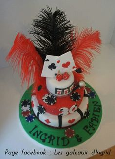 """Casino las vegas cake Cree par : """" Les gateaux d Ingrid """" ( facebook"""