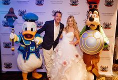 Kingdom Hearts Donald and Goofy attend Colette & John's Disney Cruise Wedding!
