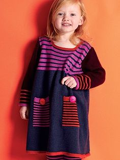 striped dress | Knitting Fever