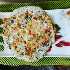 # healthy ,#gluten free #breakfast ideas# omelette with oregano and green chili. Green chili packs more vitamin c than 6 oranges.