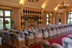 chair covers and sashes at The Hare and Hounds, Westonbirt