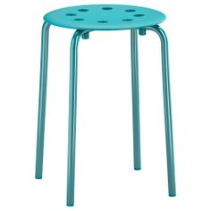 IKEA Stool - blue. $5.99. Perfect seating for small areas/ centers, guided reading/teacher table...just about anywhere in the classroom.
