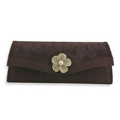 £9.99  J Francis Luxurious Magenta Satin Clutch Bag With White Austrian Crystal and White Glass Pearl