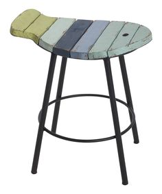 Look at this Aqua Slatted Fish Stool on #zulily today!