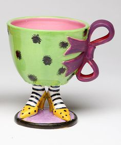 Another great find on #zulily! Green & Purple Footed Cup #zulilyfinds