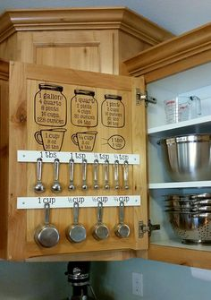 Love this. Cricut measuring cup organization